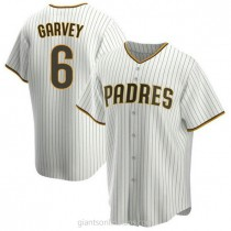 Youth Steve Garvey San Diego Padres #6 Authentic White Brown Home A592 Jersey