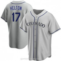 Youth Todd Helton Colorado Rockies #17 Authentic Gray Road A592 Jersey