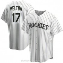 Youth Todd Helton Colorado Rockies #17 Authentic White Home A592 Jersey