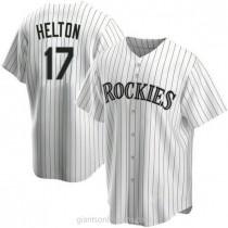 Youth Todd Helton Colorado Rockies #17 Replica White Home A592 Jerseys