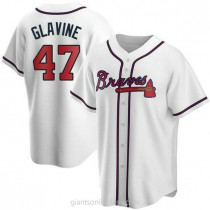 Youth Tom Glavine Atlanta Braves #47 Replica White Home A592 Jerseys