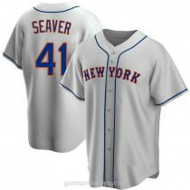 Youth Tom Seaver New York Mets #41 Replica Gray Road A592 Jersey