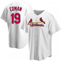 Youth Tommy Edman St Louis Cardinals #19 White Home A592 Jersey Authentic