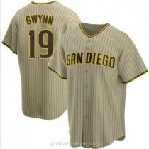 Youth Tony Gwynn San Diego Padres #19 Replica Brown Sand Alternate A592 Jerseys