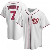 Youth Trea Turner Washington Nationals #7 Authentic White Home A592 Jerseys