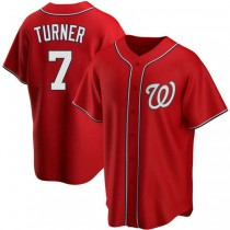 Youth Trea Turner Washington Nationals #7 Replica Red Alternate A592 Jersey