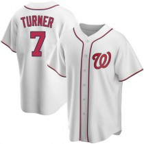 Youth Trea Turner Washington Nationals #7 Replica White Home A592 Jersey