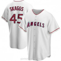 Youth Tyler Skaggs Los Angeles Angels Of Anaheim #45 Replica White Home A592 Jersey
