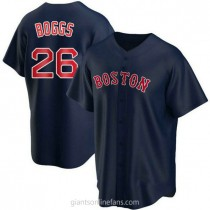 Youth Wade Boggs Boston Red Sox #26 Replica Navy Alternate A592 Jersey