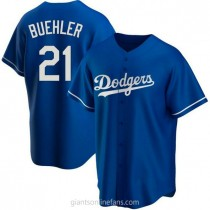 Youth Walker Buehler Los Angeles Dodgers #21 Authentic Royal Alternate A592 Jersey