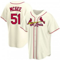 Youth Willie Mcgee St Louis Cardinals #51 Cream Alternate A592 Jersey Replica