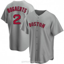Youth Xander Bogaerts Boston Red Sox #2 Authentic Gray Road A592 Jersey