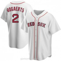 Youth Xander Bogaerts Boston Red Sox #2 Authentic White Home A592 Jersey