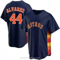 Youth Yordan Alvarez Houston Astros #44 Authentic Navy Alternate A592 Jersey