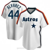 Youth Yordan Alvarez Houston Astros #44 Authentic White Home Cooperstown Collection Team A592 Jersey