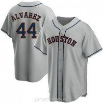 Youth Yordan Alvarez Houston Astros #44 Replica Gray Road A592 Jersey