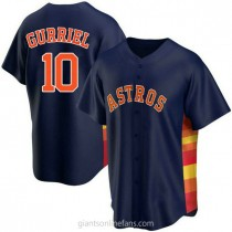 Youth Yuli Gurriel Houston Astros #10 Authentic Navy Alternate A592 Jersey