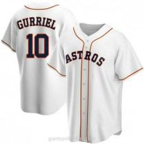 Youth Yuli Gurriel Houston Astros #10 Authentic White Home A592 Jerseys