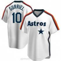 Youth Yuli Gurriel Houston Astros #10 Authentic White Home Cooperstown Collection Team A592 Jersey