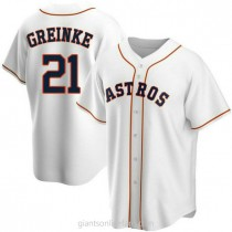 Youth Zack Greinke Houston Astros #21 Authentic White Home A592 Jersey