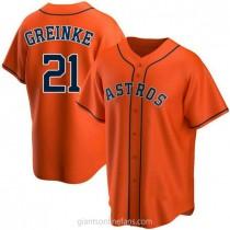 Youth Zack Greinke Houston Astros #21 Replica Orange Alternate A592 Jersey